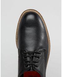 Bellfield - Oxford Shoe In Black Leather - Black for Men - Lyst