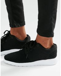 Missguided | Black Textured Trainer for Men | Lyst