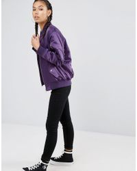 ASOS - Purple Ultimate Bomber Jacket - Lyst