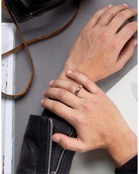 ASOS - Ring In Red Semi Precious Look Stone - Lyst