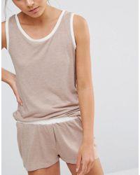 Chelsea Peers - Natural Vest And Short Pj Set - Lyst