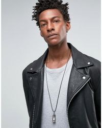 ASOS - Metallic Rope Necklace With Sand Timer Pendant for Men - Lyst