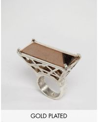 Low Luv by Erin Wasson | Metallic Silver Plated Cage Ring | Lyst