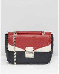 Love Moschino - Gray Colour Block Shoulder Bag - Lyst