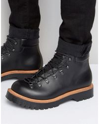ASOS | Hiker Boot In Black Leather Made In England for Men | Lyst
