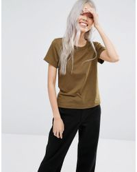 Weekday - Scoop T-shirt - Khaki Green - Lyst