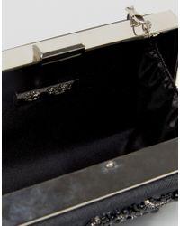 Chi Chi London - Rectangular Embellished Box Clutch In Black - Lyst