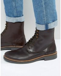 Frank Wright | Lace Up Boot In Brown Leather for Men | Lyst