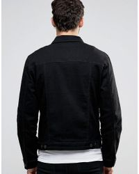 Only & Sons - Black Denim Jacket With Stretch for Men - Lyst