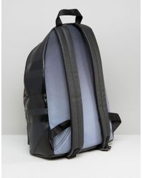 DIESEL - Iron Backpack With Leather Detail - Black for Men - Lyst