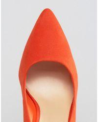 New Look - Point Heel Shoe - Orange - Lyst