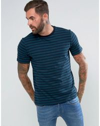 PS by Paul Smith - Blue Herringbone Horizontal Stripe T-shirt In Teal for Men - Lyst