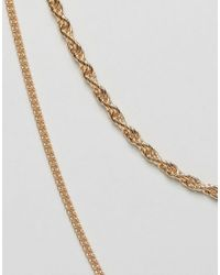 Pieces - Choker & Layering Chain Necklace - Black - Lyst