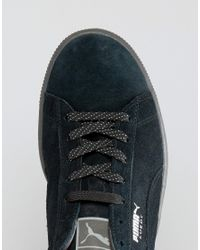 PUMA - Black Suede Classic Iced Trainers - Lyst