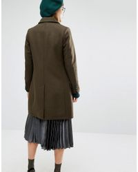 Gloverall - Green Classic Chesterfield Coat - Lyst