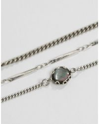 Regal Rose - Metallic Sterling Silver Plated Layering Chains & Mother Of Pearl Chokers - Lyst