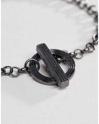 Icon Brand - Metallic Gunmetal Chain Bracelet for Men - Lyst