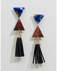 Ashiana - Multicolor Drop Tassel Statement Earrings - Lyst