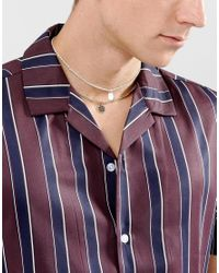 ASOS - Multicolor Double Layer Chain Choker With Charms for Men - Lyst