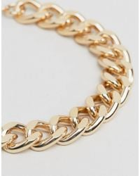 ASOS - Metallic Bracelet Pack With Gold And Silver Midweight Chains for Men - Lyst