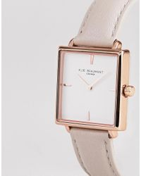 Elie Beaumont - Multicolor Eb818.3 Watch With Rose Gold Case And Stone Strap for Men - Lyst