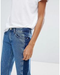 2nd Day - Blue Stripe Cropped Jeans - Lyst