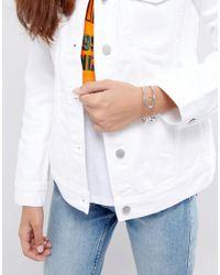 New Look - Metallic Safety Pin Cuff - Lyst