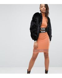 PUMA | Pink Exclusive To Asos Cropped Mesh Skirt Co Ord | Lyst