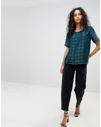 ONLY - Green Antonia Shell Top - Lyst