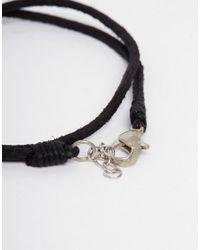 ASOS - Leather Anklet In Black for Men - Lyst
