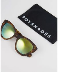 ToyShades - Multicolor Cat Eye Sunglasses With Mirror Lens - Lyst