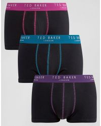 Ted Baker - Black Trunks 3 Pack for Men - Lyst
