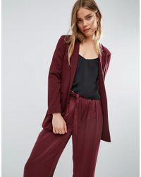 ASOS | Red Ultimate Ponte Blazer | Lyst