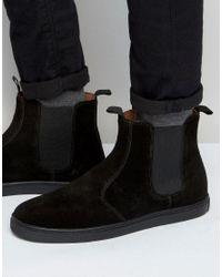KG by Kurt Geiger | Black Bison Suede Chelsea Sneakers for Men | Lyst