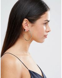 ALDO - Metallic Amaido Hoop Earrings - Gold - Lyst