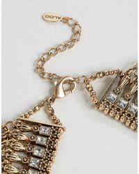 ALDO - Metallic Borgdanoff Statement Necklace - Gold - Lyst