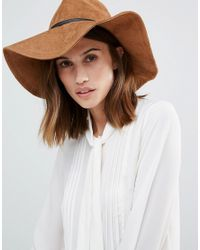 Vero Moda - Brown Fedora Hat - Tan - Lyst