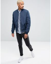 Esprit - Blue Shirt With Pocket And All Over Print for Men - Lyst