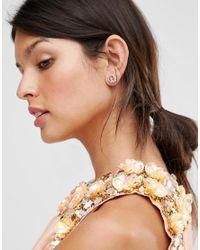 Ted Baker - Metallic Daisy Stud Earrings - Lyst