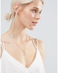 SELECTED - Metallic Femme Moby Necklace - Lyst