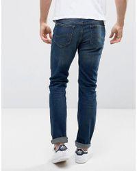 Lee Jeans - Rider Slim Jeans Dark Blue Over Dye for Men - Lyst