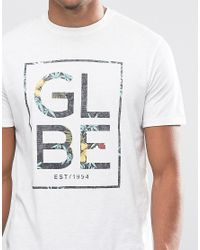 Globe - White Hibiscus T-shirt for Men - Lyst