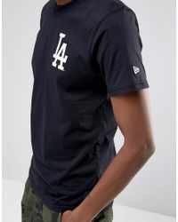 KTZ - Black La Dodgers T-shirt With Back Print for Men - Lyst