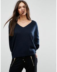ASOS | Blue Sweater With V Neck In Swing Shape | Lyst