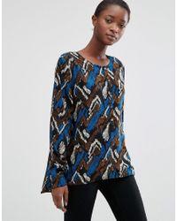 B.Young | Blue Hally Splatter Print Blouse | Lyst