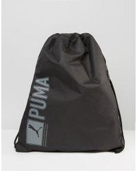 PUMA - Pioneer Drawstring Backpack In Black 7346801 for Men - Lyst