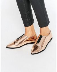 ASOS   Natural Matilda Pointed Flat Shoes   Lyst