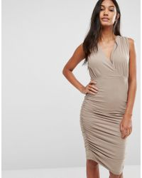 SuperTrash | Natural Day Ruched Sleeveless Dress | Lyst