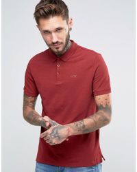 Armani Jeans   Red Polo Shirt With Logo Regular Fit In Burgundy for Men   Lyst
