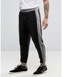 Armani Jeans | Black Sweatpants With Contrast Panel for Men | Lyst